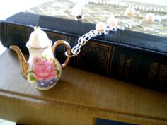 $29 Handmade by Victorian Swag miniature teapot necklace. Each purchase comes beautifully packaged perfect for gift giving this season