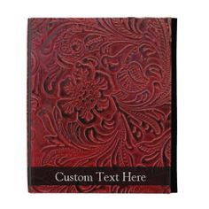 Leather-Look Floral Pattern iPad Folio Cases