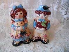 Raggedy Ann and Andy Salt and Pepper Shakers  by DEWshophere, $9.99