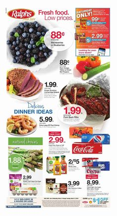 Explore the Ralphs weekly ad here! Isn't the Ralphs ad next week posting yet? We are posting Ralphs weekly ad sneak peek a few days before the deal issues. Pork Back Ribs, How To Peel Shrimp, Food Poster Design, Bakery Menu, Digital Coupons, Weekly Specials, Sale Flyer, March 7, Weekly Ads