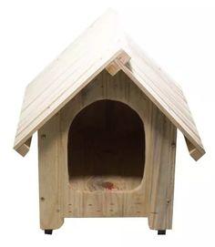 casinha de madeira 2 águas cachorro cães edícula nº1