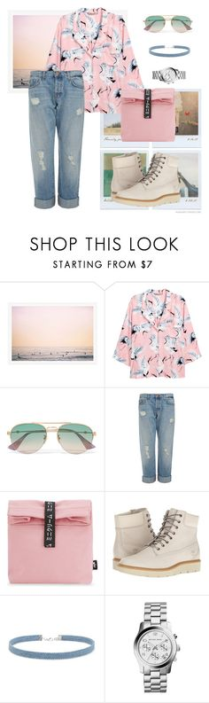 """""""SummerBoots"""" by ulfahkhrnnisa ❤ liked on Polyvore featuring Polaroid, H&M, Gucci, J Brand, Mini Cream, Timberland, Forever 21, MICHAEL Michael Kors and summerbooties"""