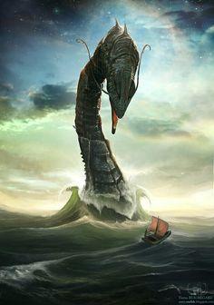Leviathan est un monstre marin, c'est une légende crainte par les marins