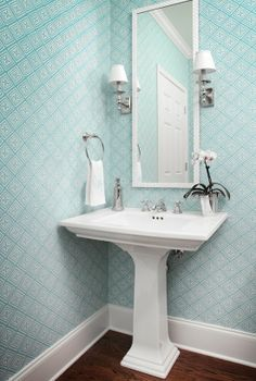 The Zhush: Style Stalking: Allison Hennessy Interior. Design. Powder room option, check other colors