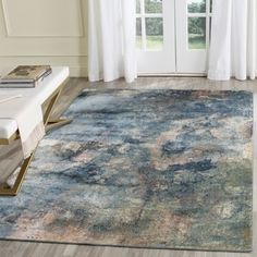 Safavieh Constellation Vintage Watercolor  Light Blue/ Multi Viscose Rug (8' x 11' 2)   Overstock.com Shopping - The Best Deals on 7x9 - 10x14 Rugs