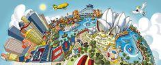 Sydney Opera House, Circular Quay and Sydney Harbour Bridge - Hartwig Braun