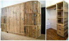 How To Build a Dressing Room With Pallets