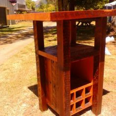 Rustic wine Bar Made from recycled Oregon Backyard Ideas, Man Cave, Oregon, Recycling, Rustic, Wine, Bar, Table, Projects