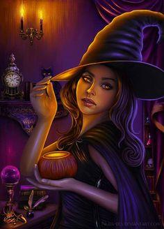Halloween Witch by nura des