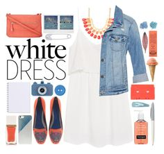 """White dress"" by valdep ❤ liked on Polyvore featuring MANGO, White House Black Market, Kenzo, Wallis, Kikkerland, BlissfulCASE, Neutrogena, Tom Ford, Forever 21 and whitedress"