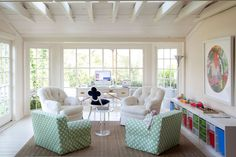 I've always wanted a sunroom. This is how I envisioned mine would look (plus a large bookcase). Glad I found a pic.