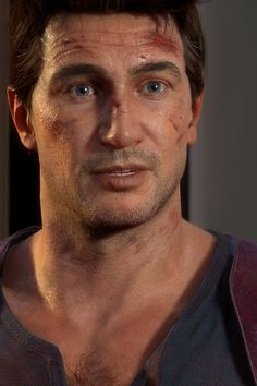 The mo-cap is so friggin good, he looks like a real human Uncharted Series, A Thief's End, Nathan Drake, Falling In Love Again, Ps4 Games, Video Game Art, Game Character, Portrait, Character Inspiration