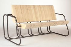 The Wright Bench by Eugene Duclos combines park bench with bike rack.