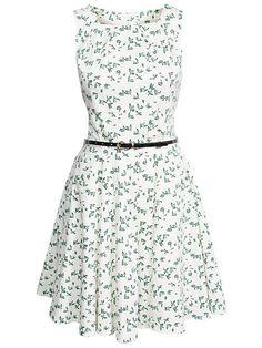 Kwiat Belt Dress - Szafa - Wzorzyste - sukienek - Odzież - Kobiety - Nelly.com Uk