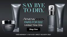 Anew Men pairs for $32  #menskincare #avon