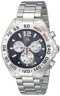 TAG Heuer Men's CAZ1114.BA0877 Formula 1 Analog Display Swiss Quartz Silver Watch -- Click image for more details. (This is an Amazon Affiliate link and I receive a commission for the sales)