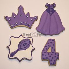 Disney Princess Inspired Cookies for Birthday Party   Treat Petite