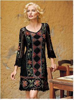 TEJIDOS Y MANUALIDADES DE LA WEB: precioso vestido sacado de paginas rusas