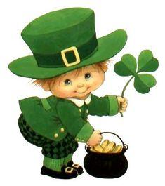 St Patricks Day Series by Ruth Morehead St Patricks Day Pictures, St Patricks Day Cards, Happy St Patricks Day, St Patricks Day Clipart, Decoupage, Image Nature, Erin Go Bragh, Irish Eyes Are Smiling, Kobold