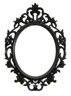 Mirror with barroc frame // Espejo con marco de estilo barroco. #barroc #frame #mirror