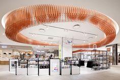 ロッテ百貨店 釜山店 B1 - GLAMOROUS co., ltd. Interior Ceiling Design, Shop Interior Design, Interior Lighting, Shopping Mall Interior, Retail Interior, Mall Design, Retail Store Design, Busan, Shop Facade