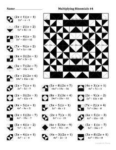 Factoring Quadratic Expressions Color Worksheet 1