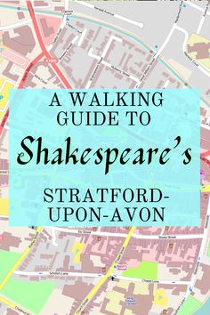 Shakespeare spent most of his life in Stratford with the original Anne Hathaway. Have you ever wanted to walk in Shakespeare's footsteps? Well, now you can!