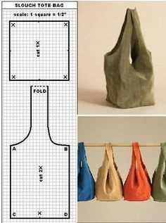 Lunch Bag/ Japanese Knot Bag/ Wristlet/ Shoulder Bag / road trip bag (Multi Color & Pattern)- Ready to Ship - Fabric Crafts, Sewing Crafts, Sewing Projects, Diy Projects, Bag Patterns To Sew, Sewing Patterns, Easy Tote Bag Pattern Free, Simple Pattern, Free Pattern