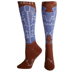 Socks Western Boot Knee High - Ariat  I've seen this style in baby socks, but for adults??? Cute!