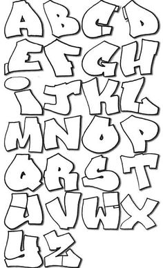 graffiti art pictures: Wavy Graffiti Alphabet in Sketch Letters A-Z Design Paper Graffiti Art, Graffiti Alphabet Fonts, Graffiti Drawing, Calligraphy Alphabet, Alphabet Letters, Grafitti Letters, Easy Graffiti, Alphabet Board, Script Alphabet