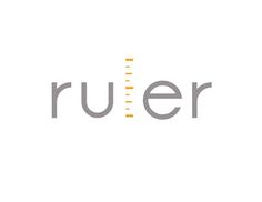 By choosing a clear, simple, and measured font and combining simple marks like those found on a ruler I've illustrated the word Ruler. Logo Word, Typo Logo, Typographic Logo, Creative Typography, Typography Design, Lettering, Creative Logo, Typography Inspiration, Logo Design Inspiration
