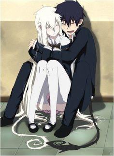 Blue Exorcist Rin X Aura - Bing images Rin Okumura, Blue Exorcist Anime, Ao No Exorcist, Anime Love Couple, Cute Anime Couples, Anime Couples Manga, Anime Demon, Manga Anime, Character Art