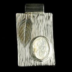 Handcrafted Cameo Pendant - Fine Silver & Mother of Pearl Cameo Pendant by Jewel of Havana $310
