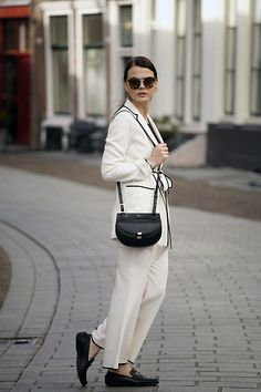 Get this look: http://lb.nu/look/8163375  More looks by Iris .: http://lb.nu/fashionzen  Items in this look:  Gucci Loafers, Chloé Bag