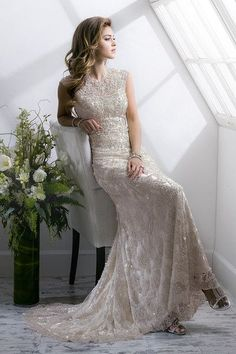Long Beading Bridal Gowns