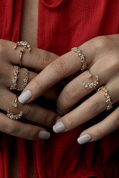 Rue Gembon Sylvie Gold Moon Ring Set