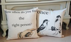SET of 2 ROMANTIC PILLOW by secdus on Etsy, $50.00