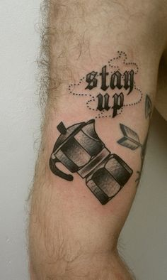 Coffee tattoo. Artist: ?. #neotraditional