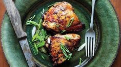 An aggressively seasoned citrus marinade delivers big flavor with these chicken thighs.