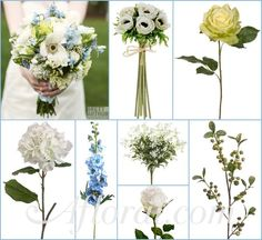#blue wedding #afloral http://blog.afloral.com/inspiration-boards/pennies-blue-cream-green-wedding-flower-inspiration-board/