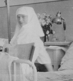 "Grand Duchess Tatiana Nikolaevna Romanova of Russia as a Sister of Mercy in 1915. ""AL"""
