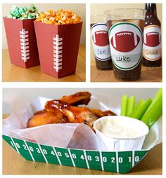 FOOTBALL PARTY THEME: Party Printables (More then Pictured)