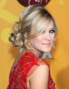 Soft Side-Swept Updo Hairstyles | Carrie Underwood Updo Hairstyles 2012 | Popular Haircuts