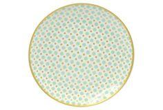 S/4 Kris Salad Plates, Mint