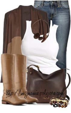 casual fall outfit with brown cape cardigan outfitspedia
