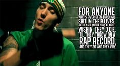Eminem 'Sing For The Moment'.... Amazing, the parallels of life.... Genius... Way to rise above.