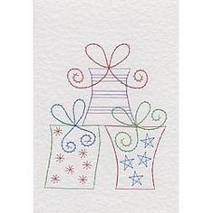 More details on Stitching Cards Three Presents
