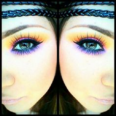 Love the colorful makeup blended.