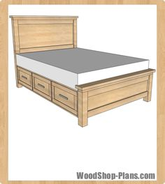 Ana White & Build a Farmhouse Storage Bed with Storage Drawers & Free and Easy DIY Project and Furniture Plans Farmhouse Storage Bed with Drawers& The post Farmhouse Storage Bed with Drawers (Queen) appeared first on Carley Powell Carpentry. Bed Frame With Drawers, Bed Frame With Storage, Diy Bed Frame, Bed Storage, Bed Frame Plans, Diy Storage Bed Plans, Furniture Storage, Queen Beds With Storage, Build Bed Frame
