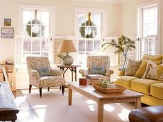 Love the use of accent  chairs